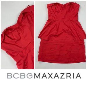 BCBG Strapless Red Dress 👗